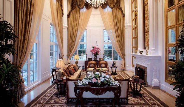 500平米别墅设计图 欧式奢华豪宅装修案例 上海别墅