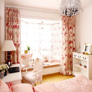 80-100平米简欧风格卧室飘窗装修效果图大全2015图片