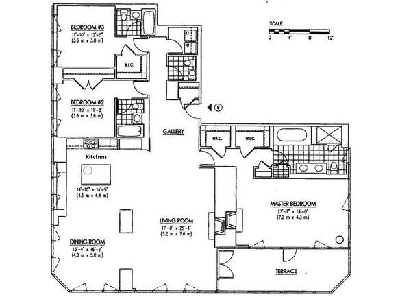 232.7平方米三居室的米兰现代公寓装修效果图