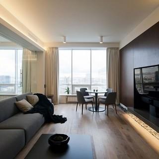 莫斯科简约优雅的单身公寓