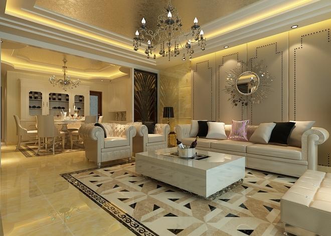 【国际城】国际城156平高贵典雅欧式大宅风格装修设计