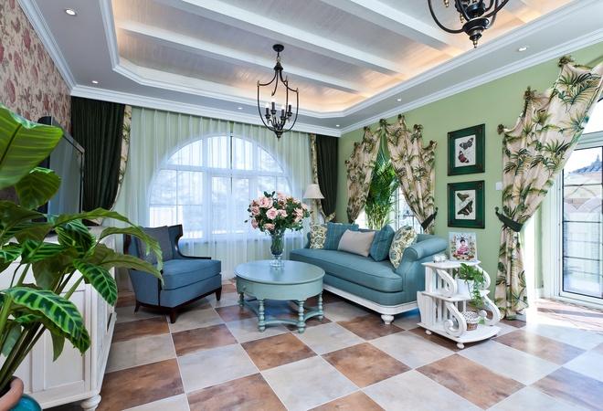 480平米地中海风格装修样板间|南昌别墅装修公司排名