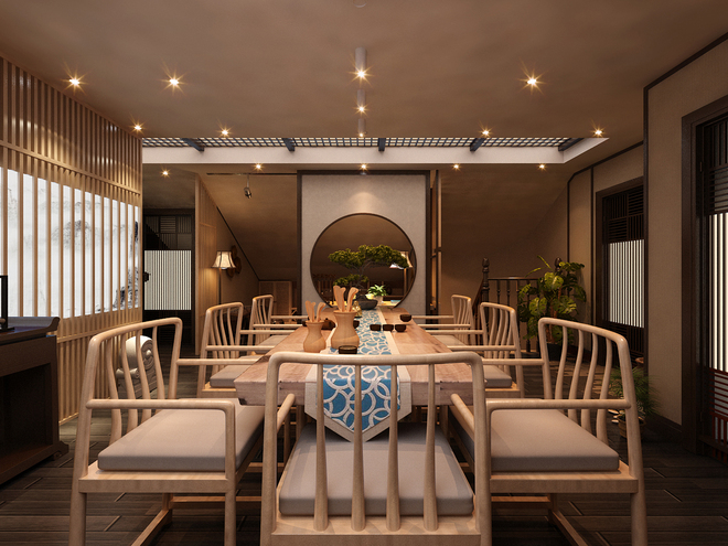 大一茶室设计模型