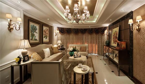 台州金色兰庭简欧风格样板房装修效果图  彭政作品