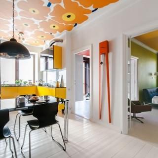 橙色黄色活力色彩一居室