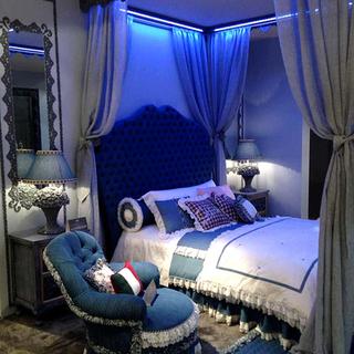 蓝色卧室装修效果图大全2015图片-搜狐家居品格装修