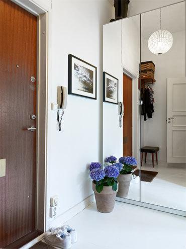 58平米蓝白清新的简约公寓装修效果图