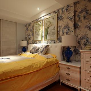 美式风格白色卧室墙面装修效果图大全2015图片-搜狐