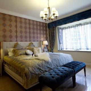 现代美式风格130平三居室装修效果图