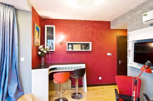 60平欧式小户型婚房装修效果图