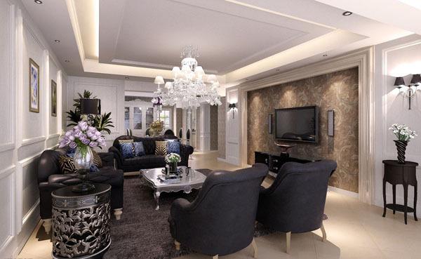 会展誉景90平米二居,简约欧式风格设计案例