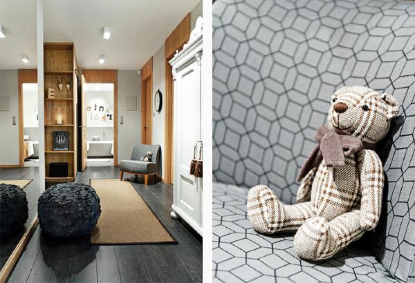 乡村现代混搭两居室装修效果图