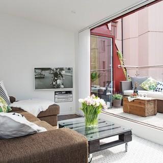 拥有迷人的露台 北欧风格复式公寓