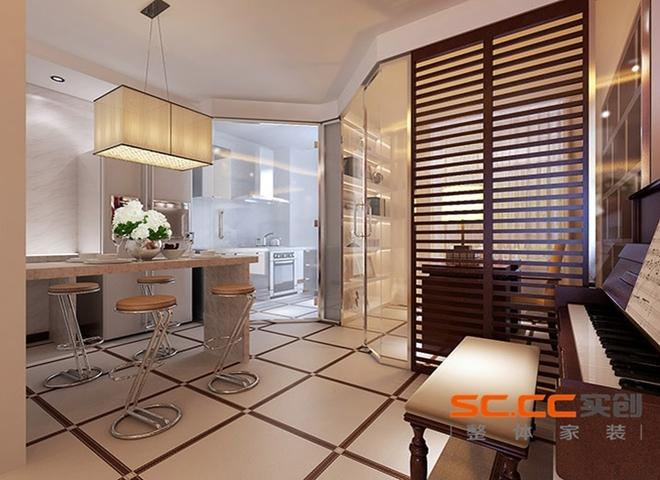 loft简欧风格黑色客厅吧台装修效果图大全2014图片