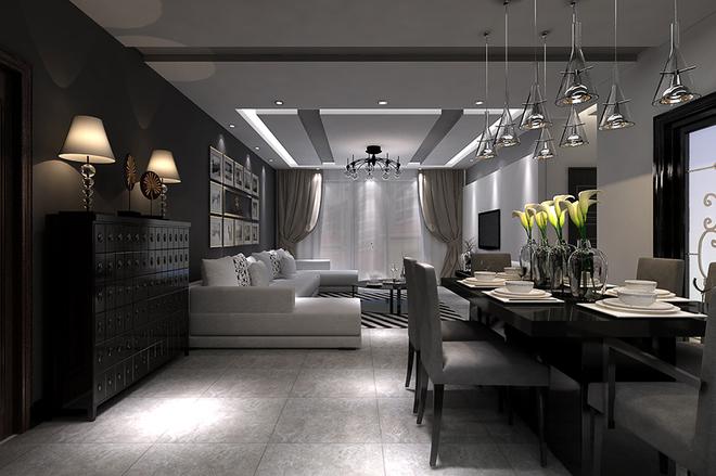 现代黑白灰风格设计不仅给人有庄重感觉的同时也带来对于视觉上的