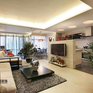 滨江金色黎明8万打造158平简约之家 - 158.0平米三居简约风格