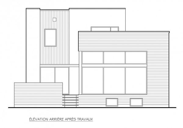 加拿大现代简约风格改建住宅装修效果图