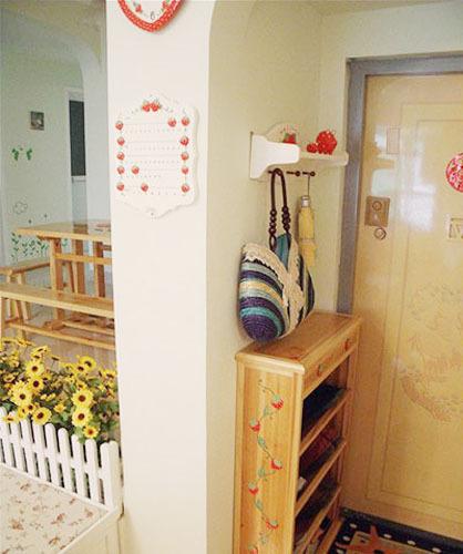 超可爱草莓之家 乡村田园风三居室装修效果图