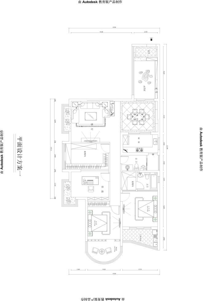 欧式风格房区平面设计图