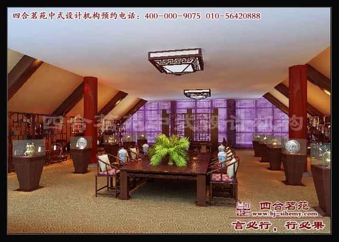 江苏南通晟宝红木家具展厅中式设计
