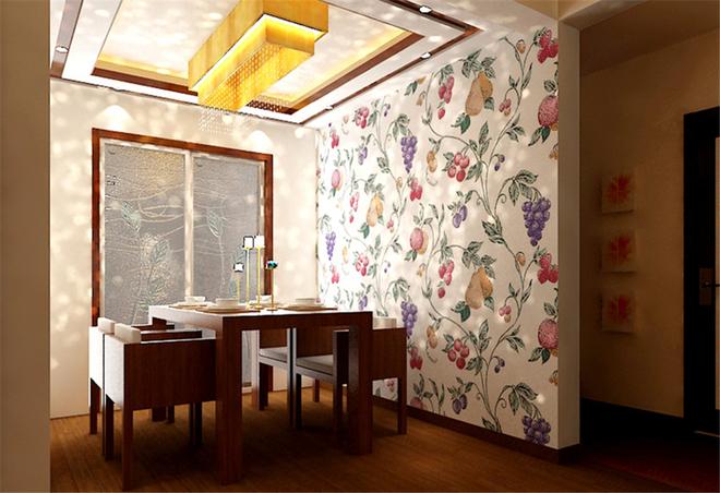 中式花格胡桃木色地板稳重大气
