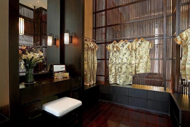 新中式风格秀兰左岸小镇装修设计案例  一件旗袍,有人穿上就显雍容