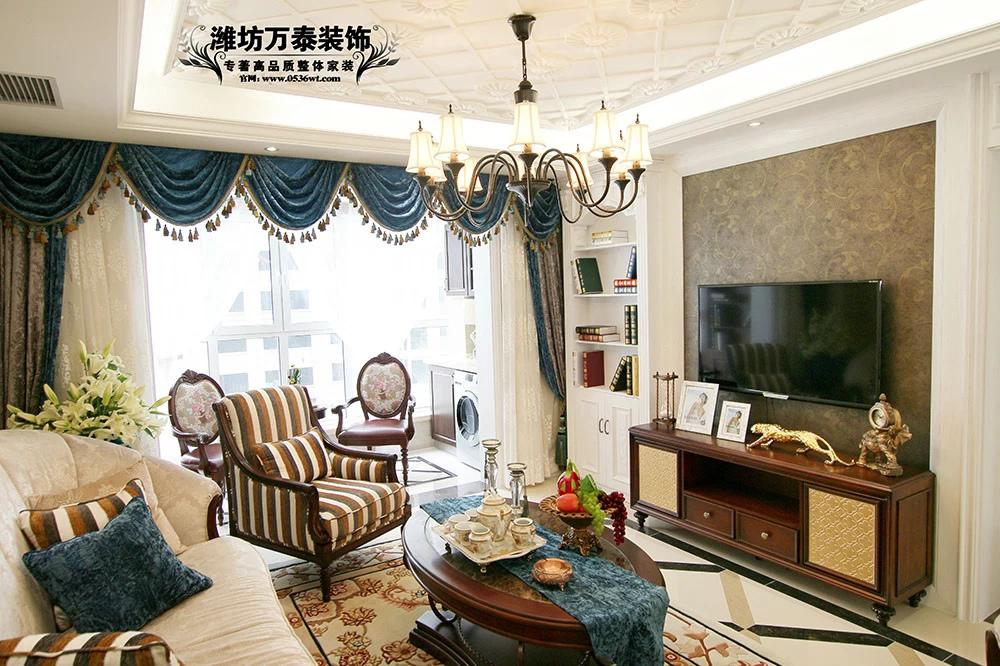 【潍坊万泰装饰】青州龙苑143平奢华欧式样板间实景