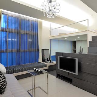 看上去如60平米的33平方米现代一居室