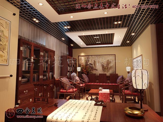 刘中辉作品:展厅中式设计之宏源大厦效果图