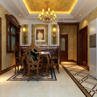 120-150平米欧式古典风格餐厅装修效果图大全2015图片
