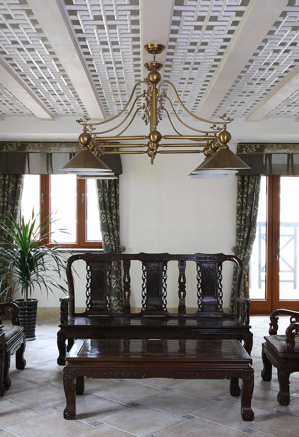 魅力东方  中式复式别墅装修效果图