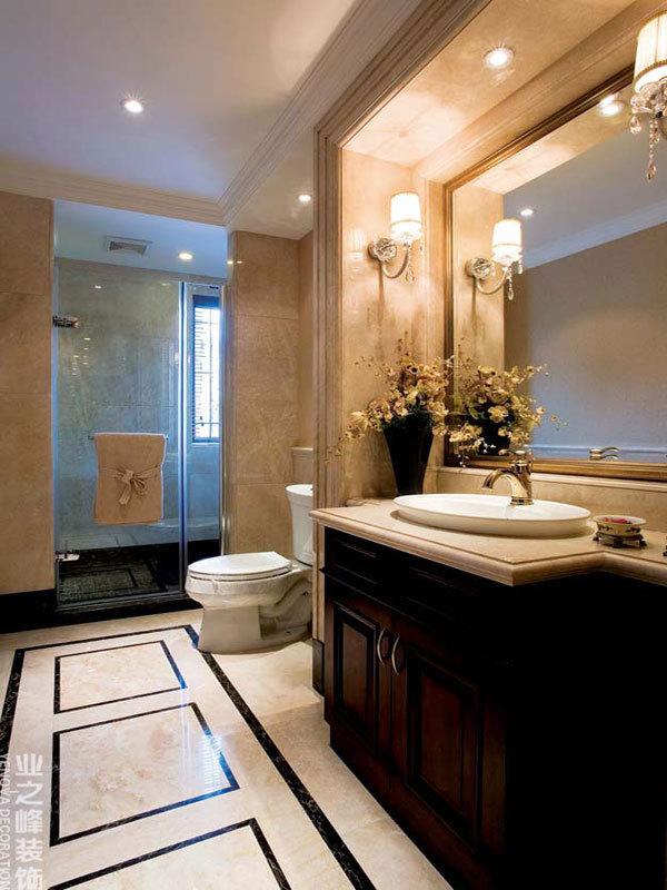 清晰印象法式复古华美两居室装修效果图
