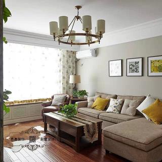 80-100平米美式风格客厅装修效果图大全2015图片-搜狐