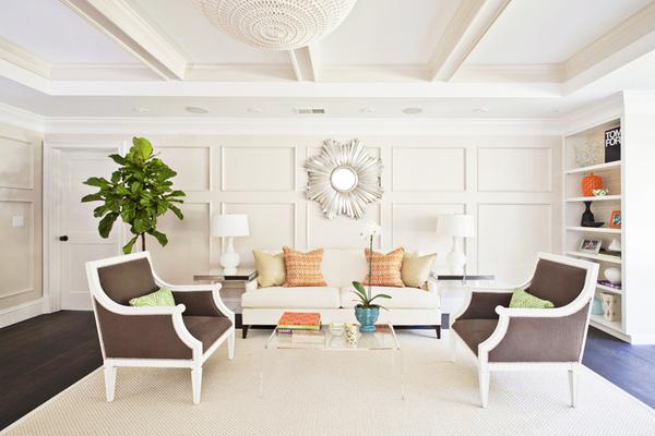 传统美式风格两居室装修效果图