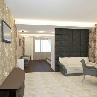 明与暗的色彩反差 52平米现代质感一居室