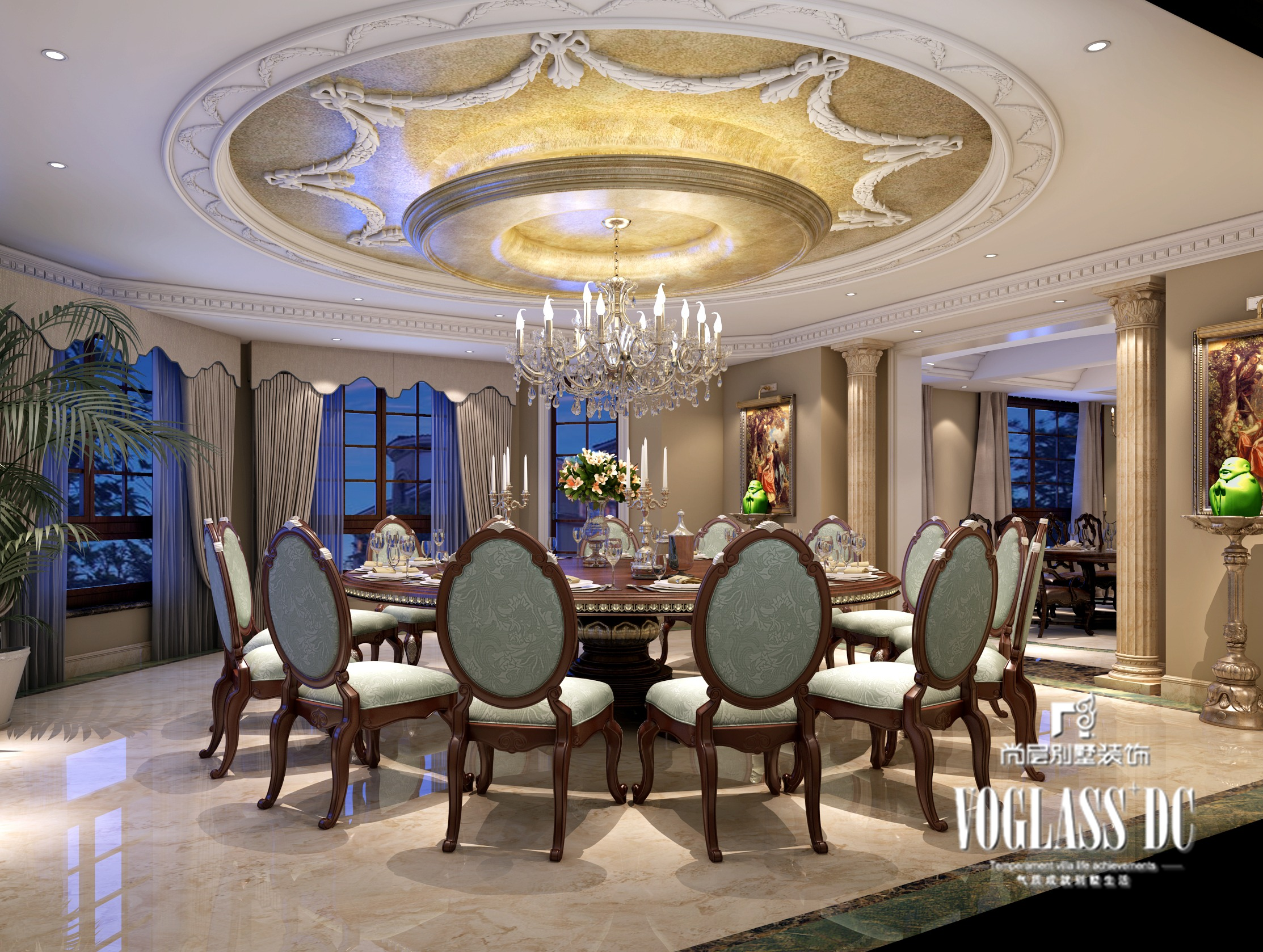 上海尚层别墅装饰——欧式风格的别墅装修案例