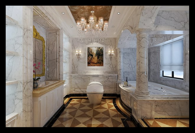 墅450平高贵典雅欧式风格装修设计案例~  小区名称:原河名墅 项目简介