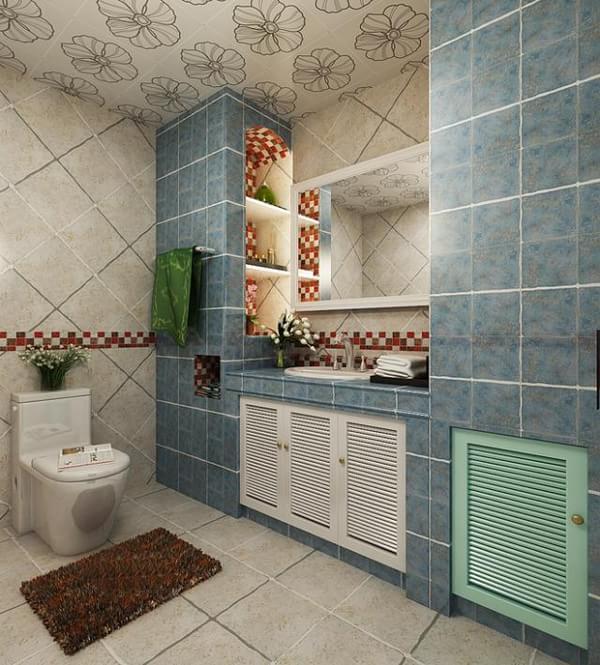 暖暖海风 地中海风情三居室装修效果图