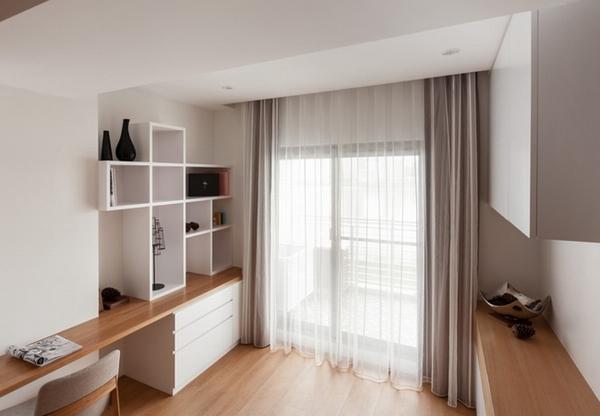 禅意宁静极致简洁的日式一居室装修效果图