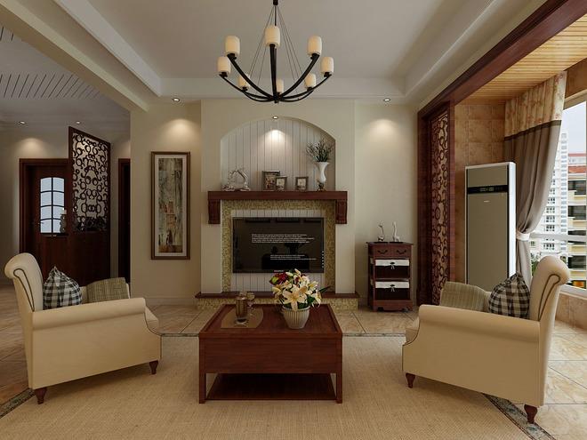 欧式客厅十分需要用家私和软装修来营建整体效果.
