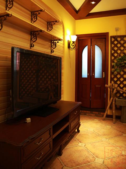 首城国际89平米美式风格两居室装修效果图