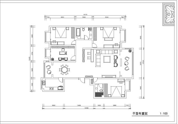 太原实创装饰打造康馨苑185平米中式装修效果图