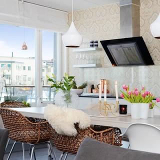 斯堪的纳维亚风格87平米两居室 看上去如豪宅