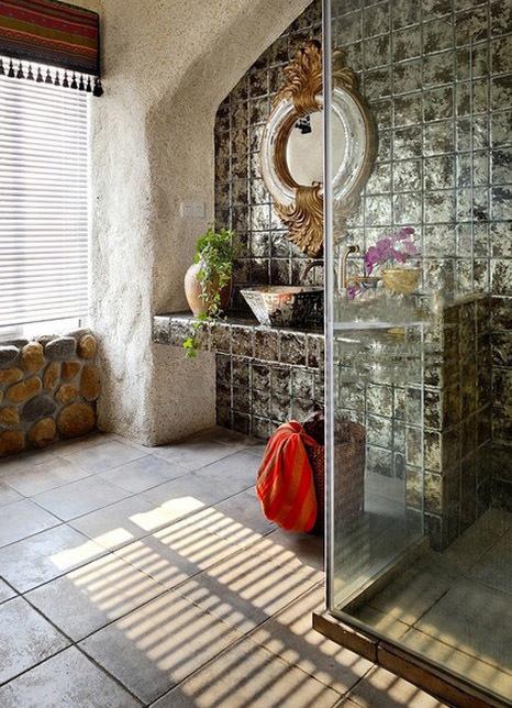 地中海风格复式 阳台改建个性游泳池