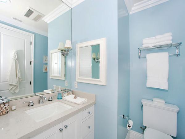 一居室浅蓝混搭装修效果图 撞出居家活力