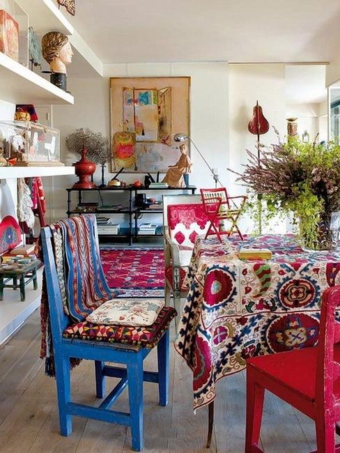 神奇色彩装点混搭两居室装修效果图