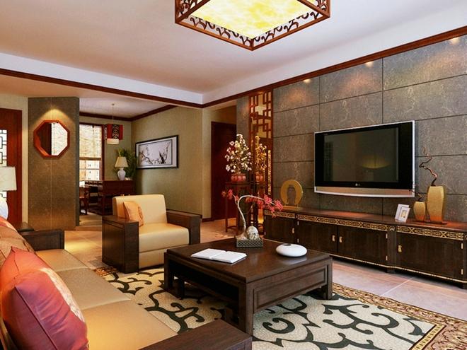 业主孙先生及其家人对自己居住的生活环境要求较高,希望设计风格既能温馨又能体现出自己较高的欣赏水平和文化内涵,他们认为居室该有的不只是豪华大气,更多的是惬意和浪漫,因此根据客户的生活品位和房子的结构特点定位为新中式风格。整个设计方案的主色调为暖色,黄色糅合少量白色,使色彩看起来明亮、大方。