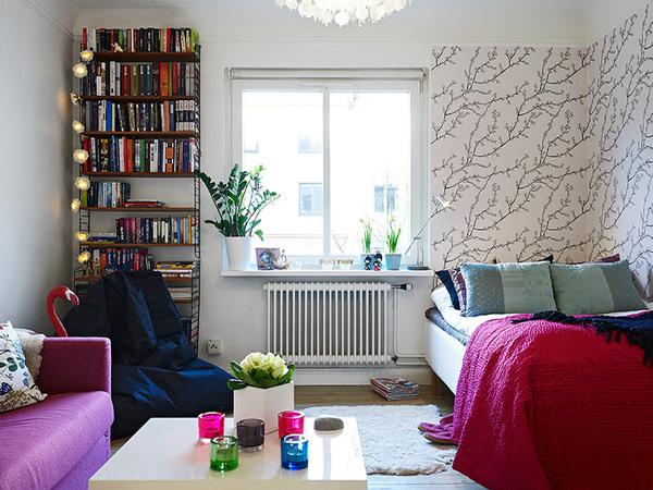 简约风春色盎然一居室装修效果图,让你呼吸自然的空气