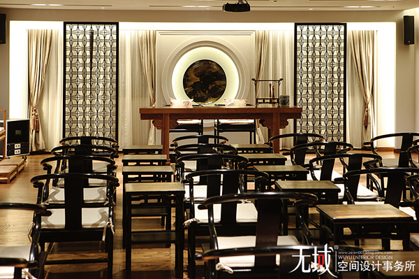 寻找那一片桃花源----山东滨州和中式风格会所实景装修效果图