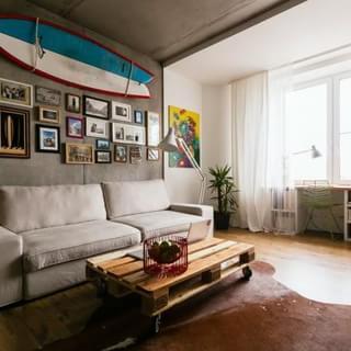 47平米独特而现代的白石膏元素公寓